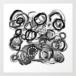 Ice Bubbles 02 Art Print
