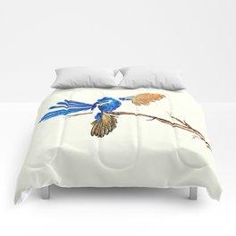 Dancing Blue Fairy Wren Australian Bird Comforters