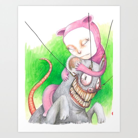 Not Mr. Rat Art Print