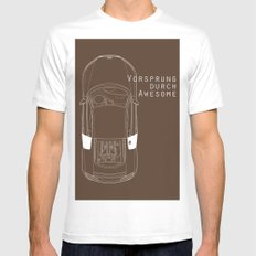 Vorsprung Durch Awesome White Mens Fitted Tee MEDIUM