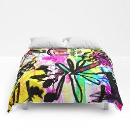 hot pink doodles Comforters