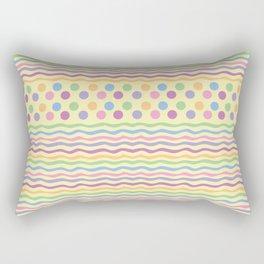 Polka dots and stripes Rectangular Pillow