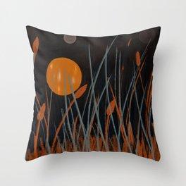 Autumn Moon #Original Art Throw Pillow
