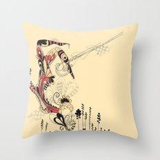 beija-flor Throw Pillow