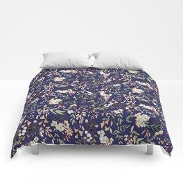 Dark Intricate Floral Pattern Comforters
