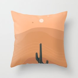 Sinuous Heat Waves & Solitude Throw Pillow