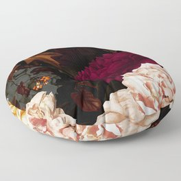 Vintage & Shabby Chic - Midnight Rose and Peony Garden Floor Pillow