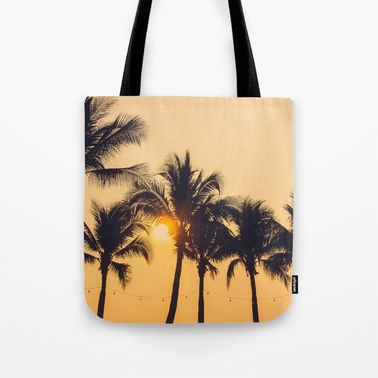 Good Vibes #society6 #palm trees Tote Bag