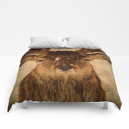 Deer In Headlights Comforters