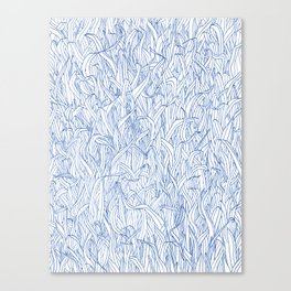 Blue Grass Canvas Print