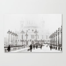 Winter In Moscow Canvas Print