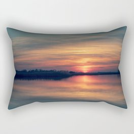 Peace and quiet at the lake Rectangular Pillow