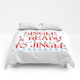 Single and Ready to Jingle Comforters