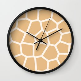 Giraffe Animal Print Skin Wall Clock