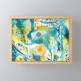 Cracks II - Where the light gets in Framed Mini Art Print