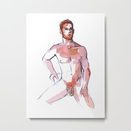 PATCH, Nude Male by Frank-Joseph Metal Print