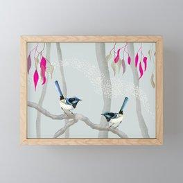 Blue Wren Australian Birds Framed Mini Art Print