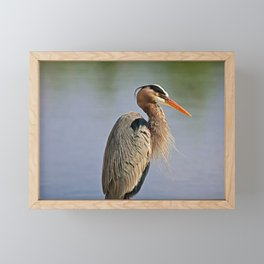 Heron in the Slough IV Framed Mini Art Print