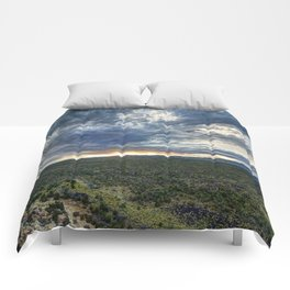 Burning Sky and Lava Field Comforters