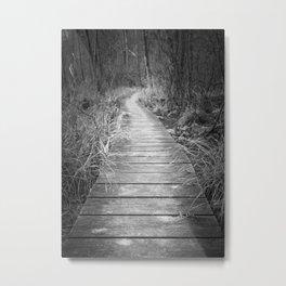 Marsh Boardwalk Metal Print