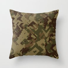 Camouflage Chaos Throw Pillow