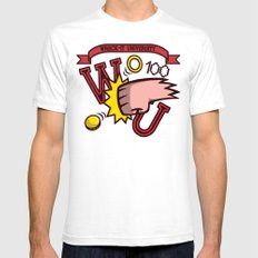 Wreck-It Ralph: Wreck-It University SMALL White Mens Fitted Tee