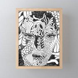 Her Beauty Framed Mini Art Print