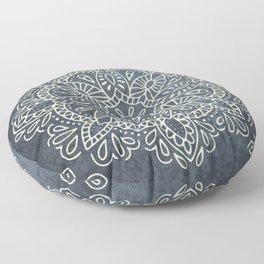 Mandala Vintage Ivory Blue Floor Pillow