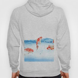 Happy koi fish- fishes sea water lake Hoody