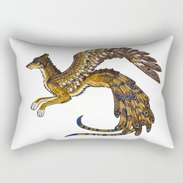 On Wings of Gold Rectangular Pillow