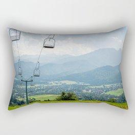 Mountain Cableway Rectangular Pillow