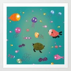 Underwater Art Print