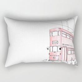 The tram in Hong Kong Rectangular Pillow