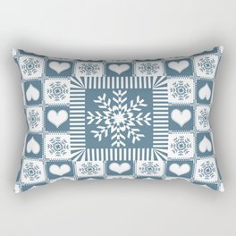 Winter Snowflake Christmas Pattern Rectangular Pillow