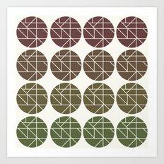Circles Gradient  Art Print