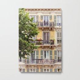 French Riviera Windows Metal Print
