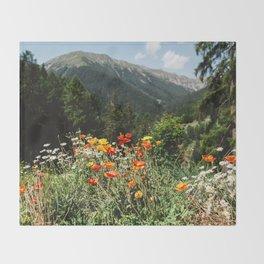 Mountain garden Throw Blanket