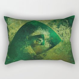 The Endless Green Rectangular Pillow