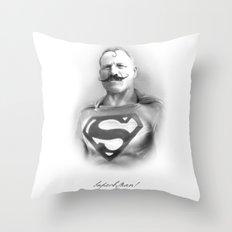 SuperbMan! Throw Pillow