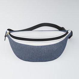 Nautical Blue & White Stripes Fanny Pack