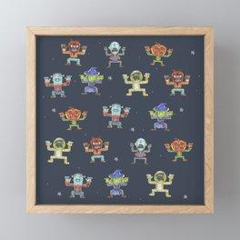 Halloween_pattern Framed Mini Art Print