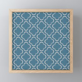Quatrefoil BLue Framed Mini Art Print