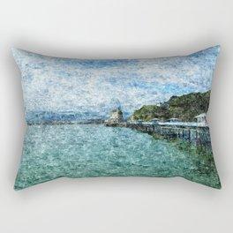 Llandudno Pier in Summer Rectangular Pillow