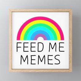 Feed Me Memes Framed Mini Art Print