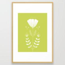 Folky Flower Framed Art Print