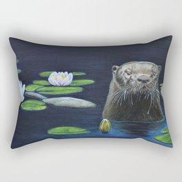The River Otter by Teresa Thompson Rectangular Pillow