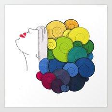Moumoute Color Art Print