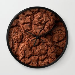 Group of dark chocolate cookies Wall Clock