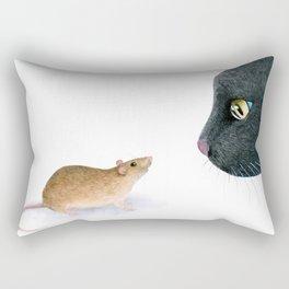 Cat 604 mouse Rectangular Pillow