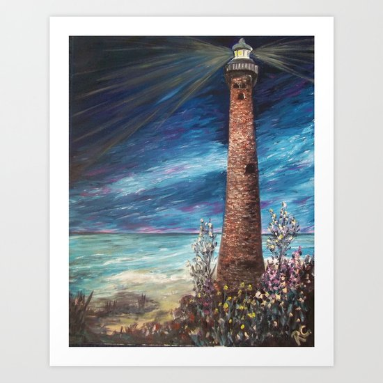 Little Sable Light, Lake Michigan,  Art Print